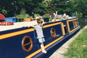Sarah Jasmon's boat on the Leeds/Liverpool canal